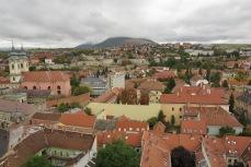 Utsikt över Eger från museet med Camera Obscura på toppen